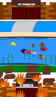 flash 池塘模板 flash 池塘素材下载 flash 池塘动画设计源文件 我图网