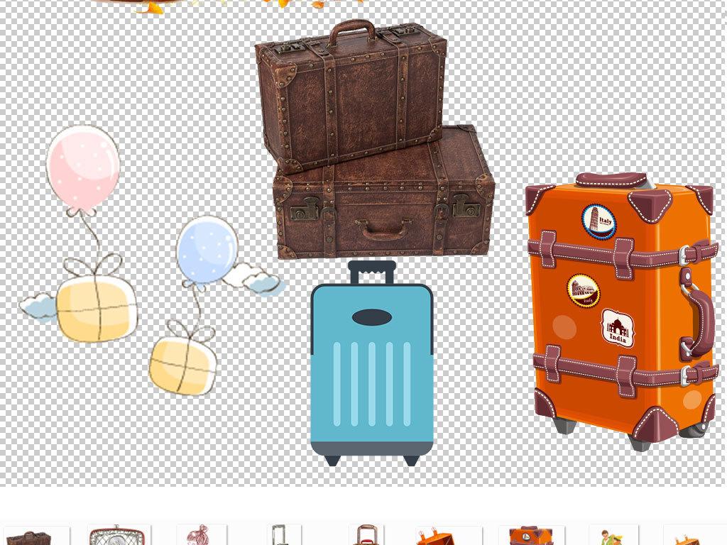 卡通旅行行李箱海报图素材