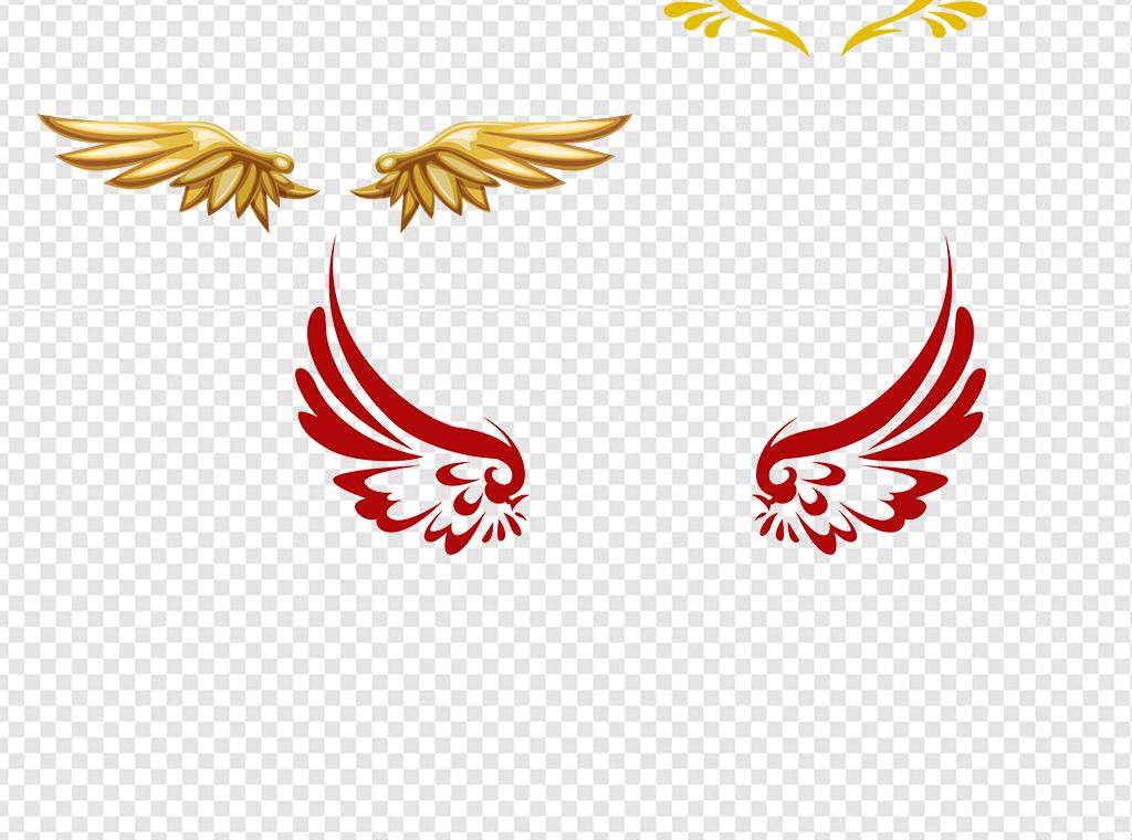 卡通天使翅膀背景png素材