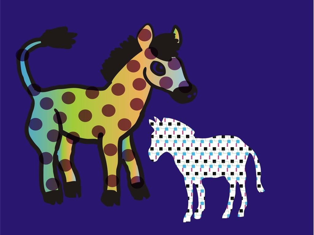 卡通动物马图片设计素材_高清其他模板下载(0.26mb)qq