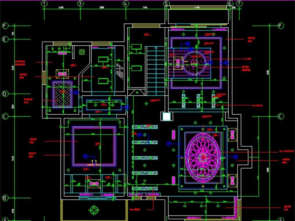 建筑设计 cad图纸  建筑图纸 > 别墅装修装饰cad设计图