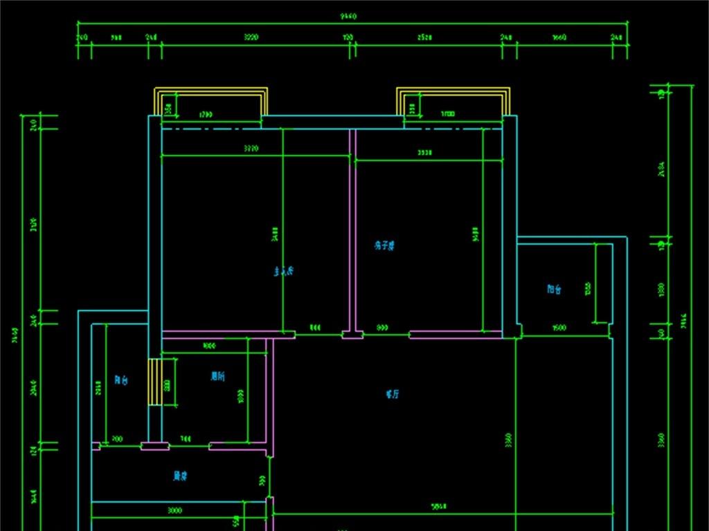 平面布置图插座布置图天花布置图地面布置图设计图公寓住宅装修装饰