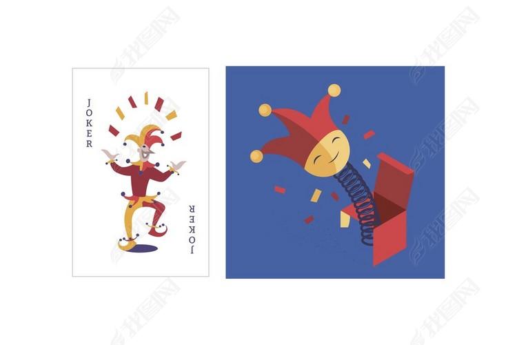 扑克牌joker矢量素材小丑jack图片 cdr模板下载 0.16MB 其他大全 生活工作图片