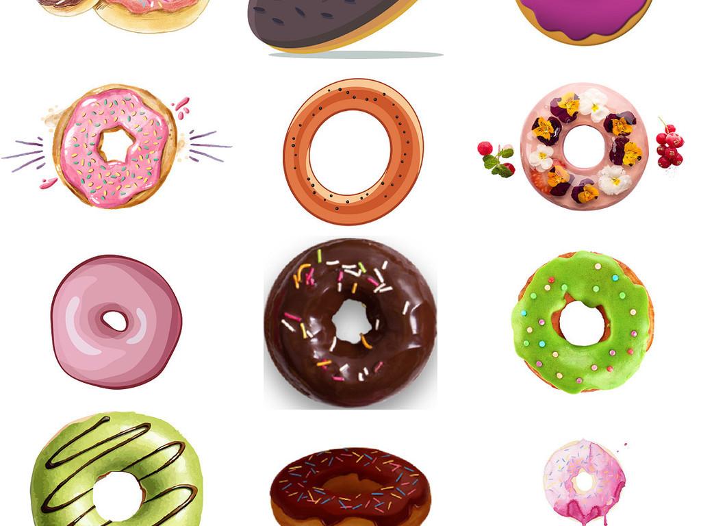 卡通甜甜圈包甜甜圈糕点设计免抠素材4