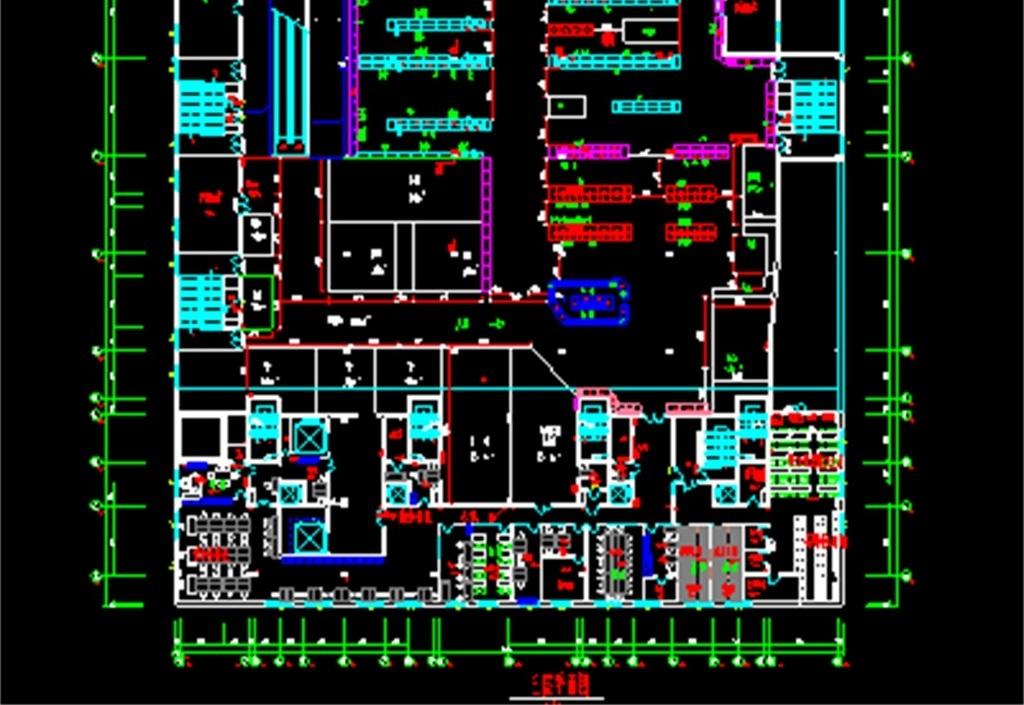 商场cad平面图