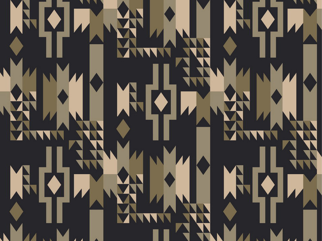 现代抽象几何抱枕图案设计