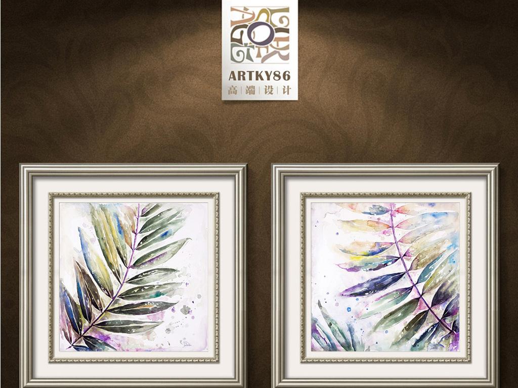 五彩粽叶树叶装饰画