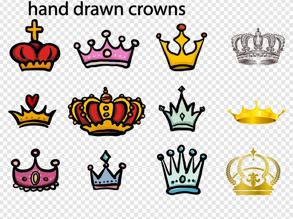 图标                                  金色素材皇冠卡通素材金色