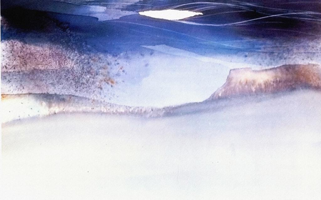 新中式水墨油彩风景抽象玄关装饰画无框画