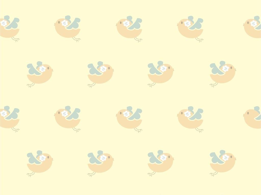 卡通图案动物鸟可爱面料印花婴幼儿用品图案