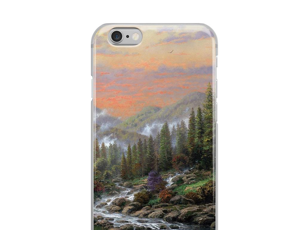 油画手绘风景山水手机壳手机套高清模板