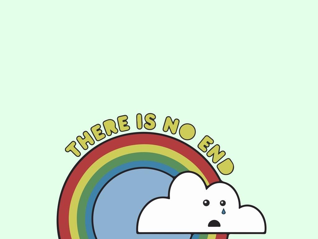 作品模板源文件可以编辑替换,设计作品简介: 卡通图案彩虹云朵 矢量图