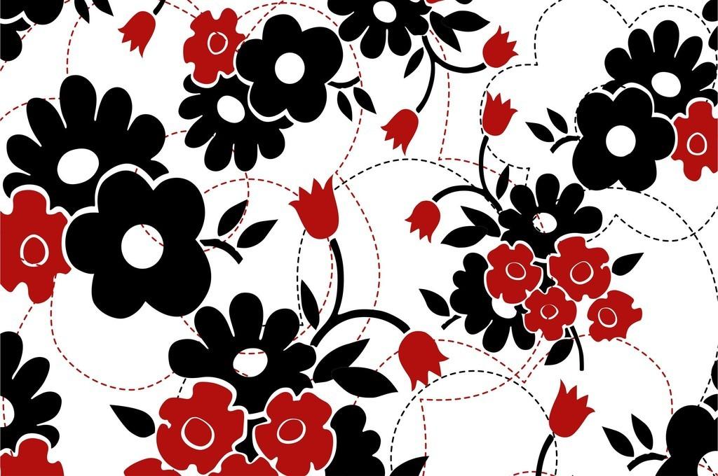 几何图形线性图案植物花卉图案印花图案