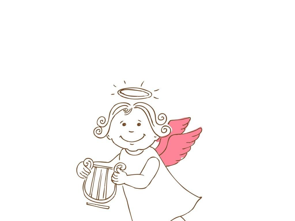 卡通人物插画天使