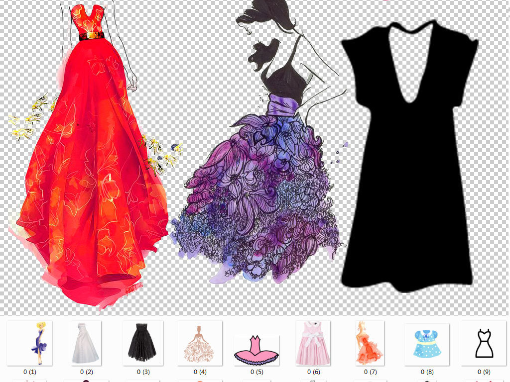 手绘裙子素材图片v裙子科目海报精装修设计费计哪个美女图片