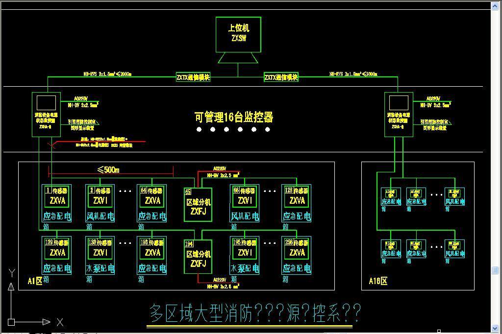 cad图纸 > 消防设备电源监控系统及防火门监控系统设计图例和说明(新