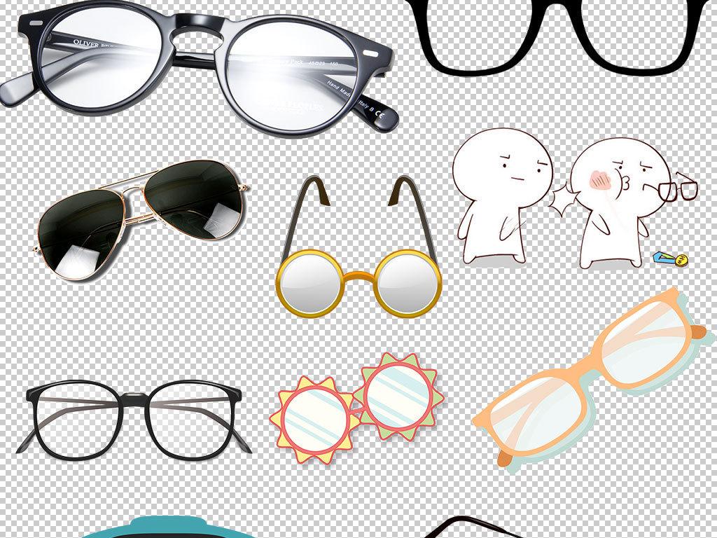 卡通手绘眼镜框架图片海报素材