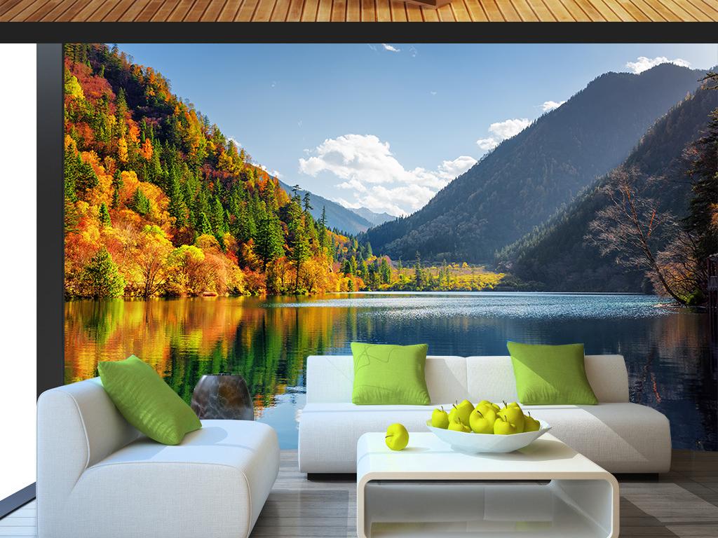 绿水青山风景墙纸