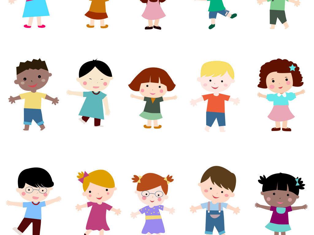 卡通婴儿表情包矢量素材图片