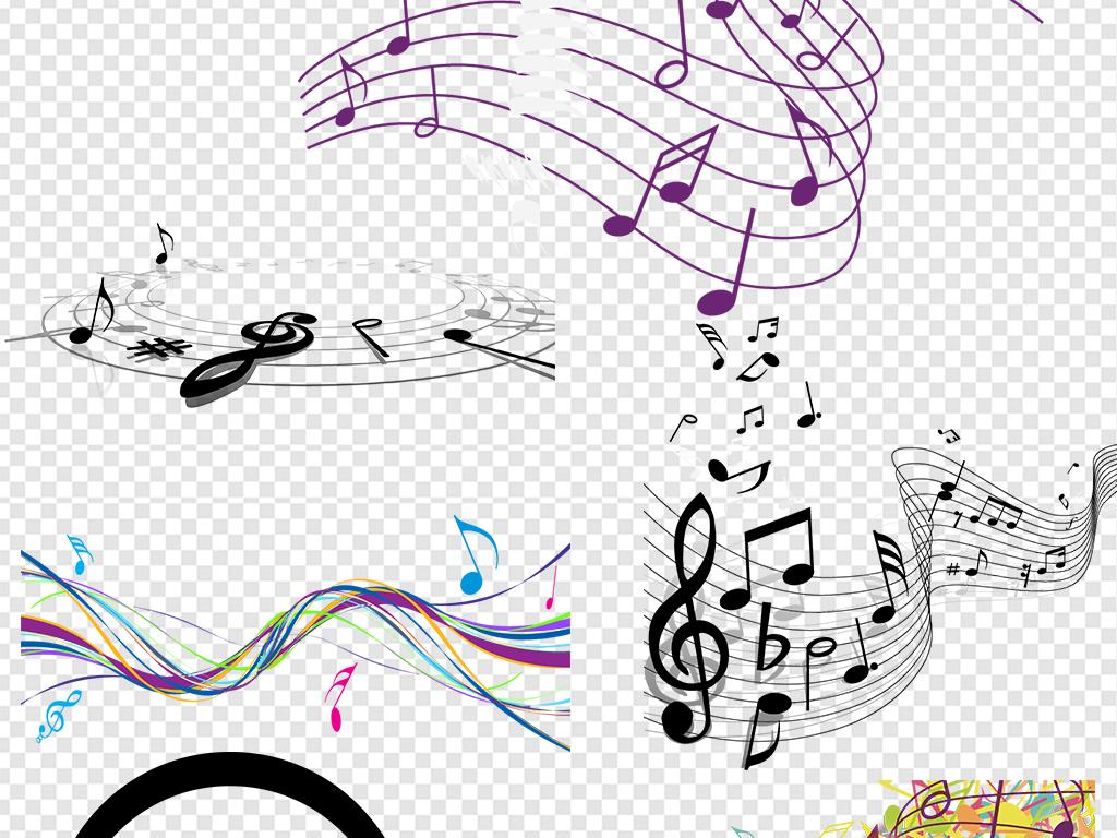 黑白格表演五线谱音符图片音符