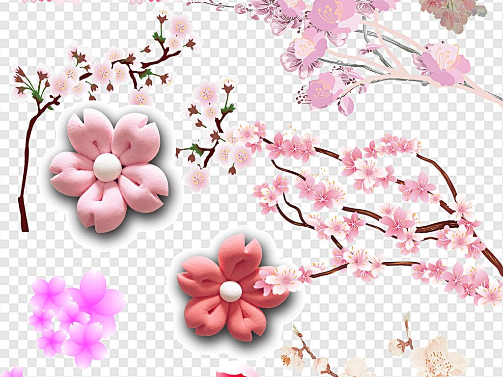 樱花飘落樱花边框樱花节樱花背景樱花花瓣