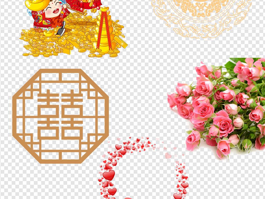 png)                                  结婚情侣手绘中式传统婚礼海