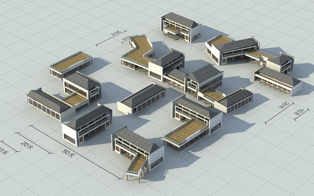 作品模板源文件可以编辑替换,设计作品简介: 中式建筑商业街,,使用图片