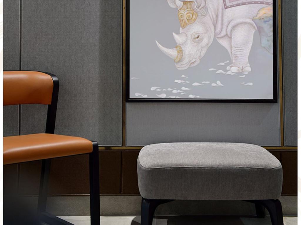 式工笔油画犀牛猴子艺术玄关图片设计素材 高清模板下载 45.86MB