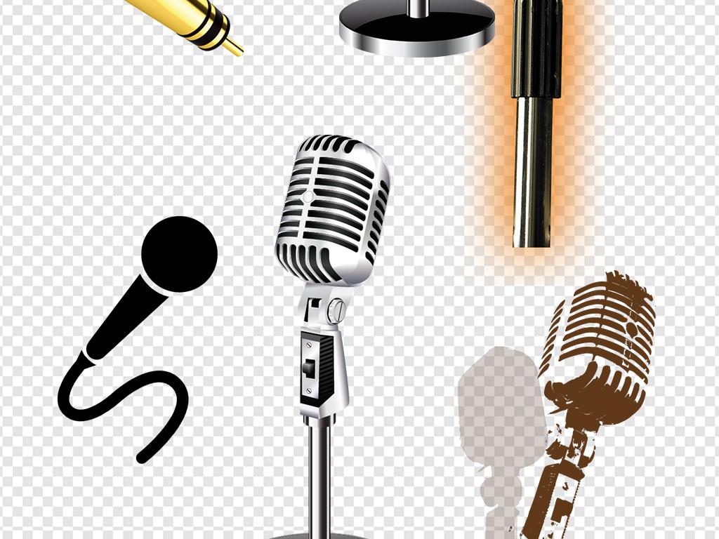 png)高清麦克风音乐海报图片素材老式立体麦psd矢量挑战麦克风卡通