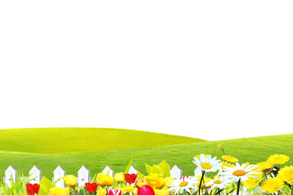 办公信纸边框卡通可爱花纹花朵春天风景信纸春天风景春天模板户外