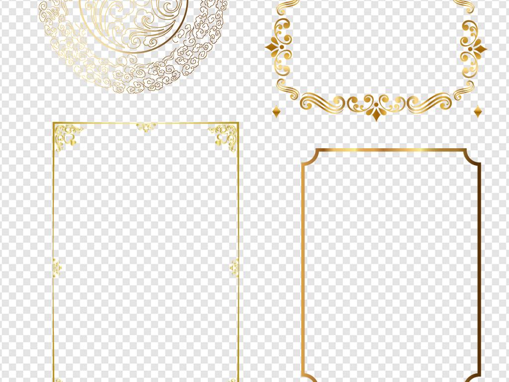 设计元素 背景素材 欧式边框 > 金色欧式边框素材