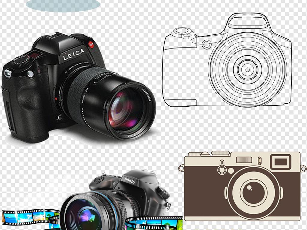 手绘卡通相机素材