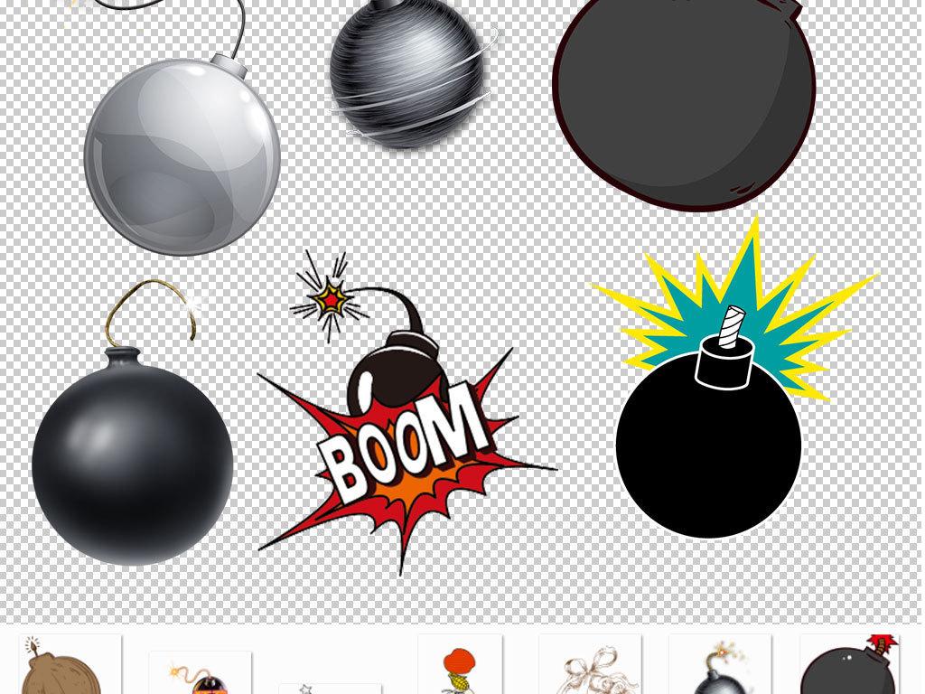 卡通爆炸炸弹设计海报素材