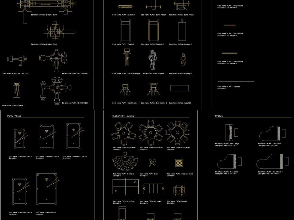 室内家具v家具家具CAD平面图库excel数据到转换cad中图片