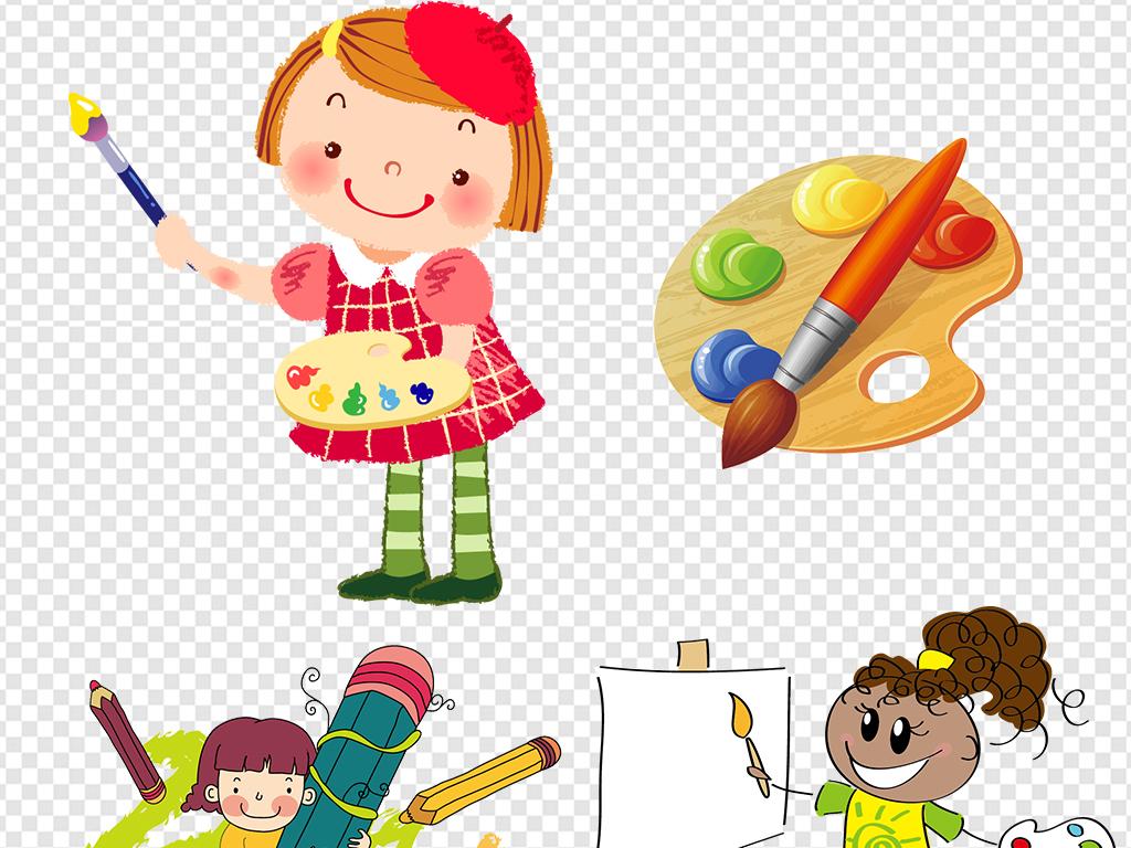 卡通儿童画画素材(图片编号:16191824)_儿童_我图网