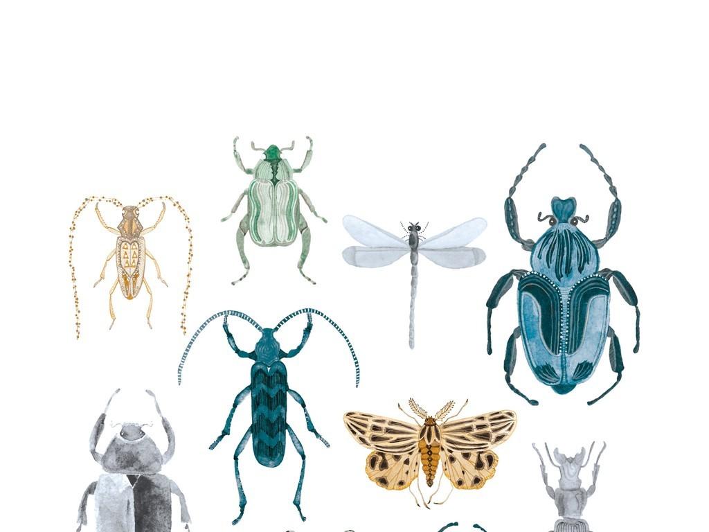 设计元素 自然素材 其他 > 昆虫图案剪影插画卡通动物  版权图片 分享