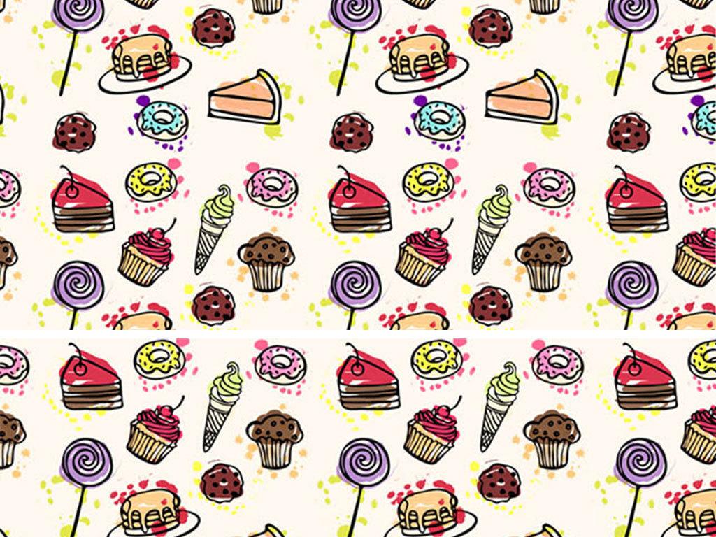 设计元素 自然素材 花卉 > 食品甜点高清背景矢量图  版权图片 分享