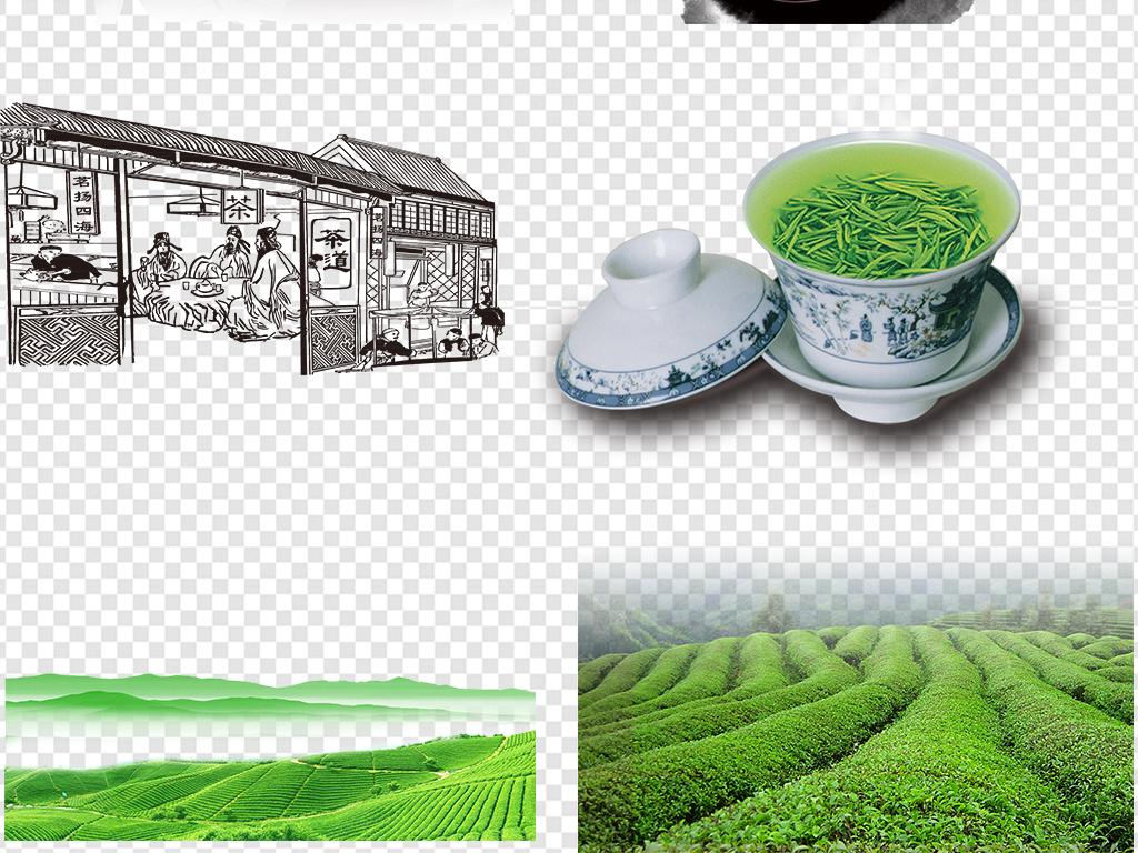 茶壶茶叶茶字茶具海报素材图片