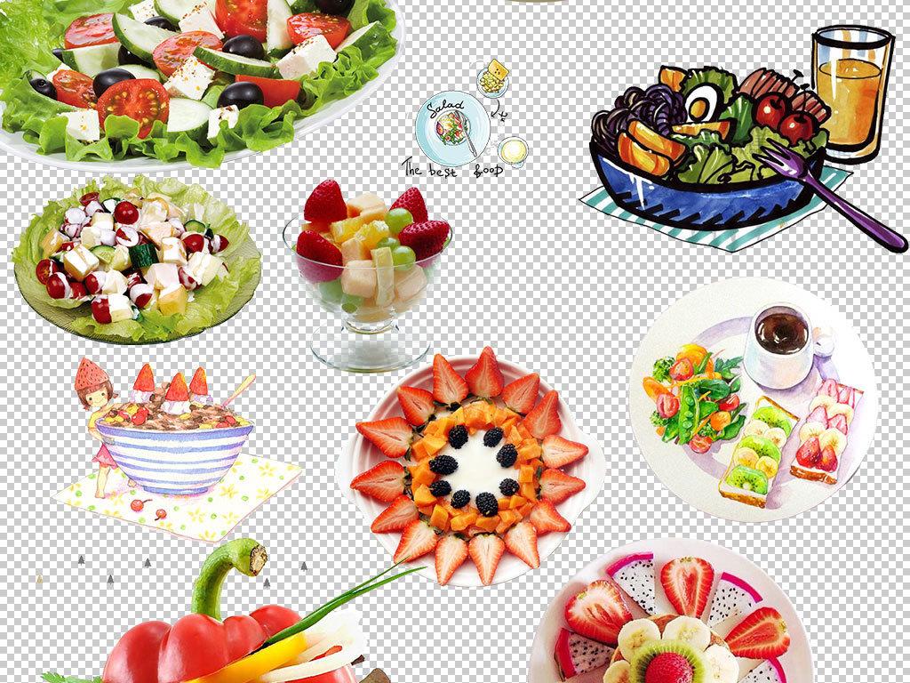 蔬菜沙拉水果沙拉海报素材