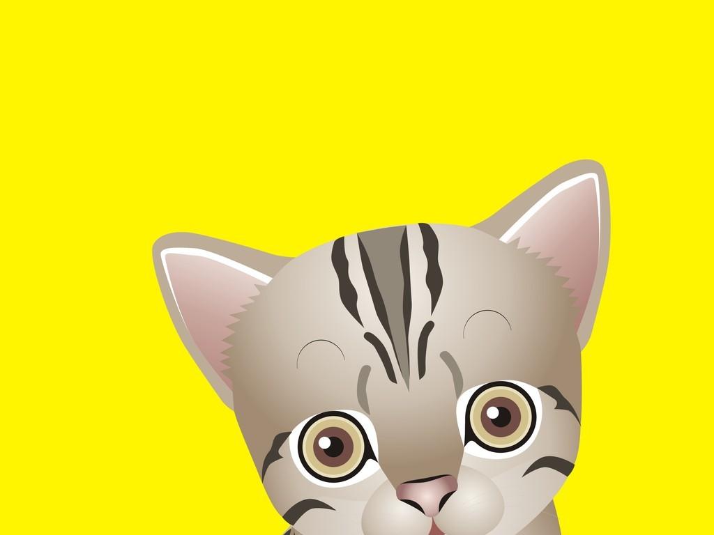 设计元素 自然素材 动物 > 手绘动物简笔插画卡通动物猫  版权图片
