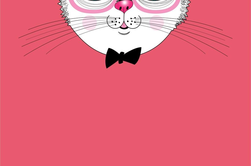 可爱卡通猫咪ai矢量图设计素材源文件图案
