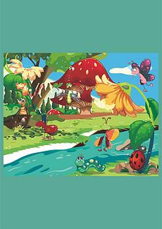 昆虫绘画图片素材 昆虫绘画图片素材下载 昆虫绘画背景素材 昆虫绘画