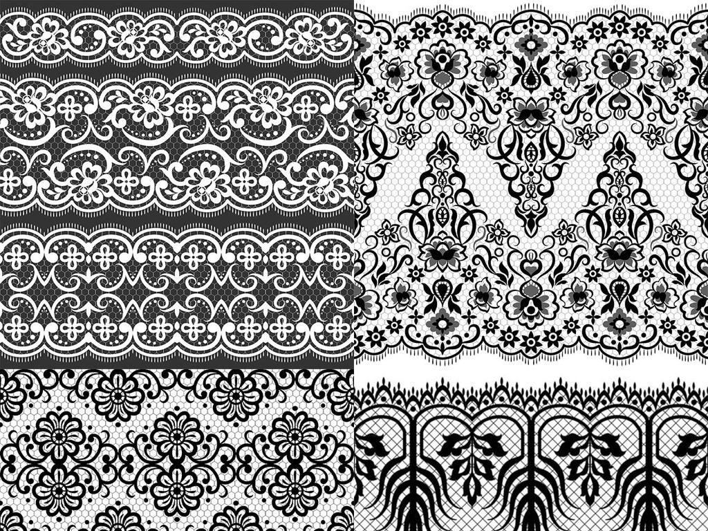 作品模板源文件可以编辑替换,设计作品简介: 欧式黑白花纹背景 矢量图