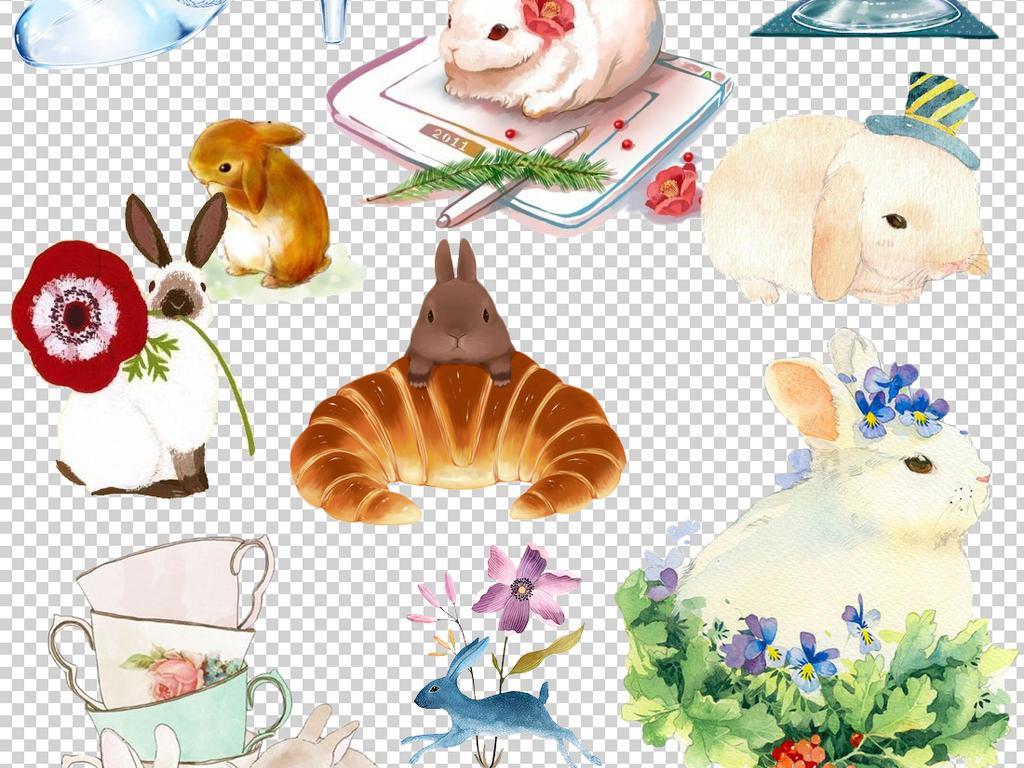 兔子耳朵兔子可爱小兔子白兔卡通小兔子素材