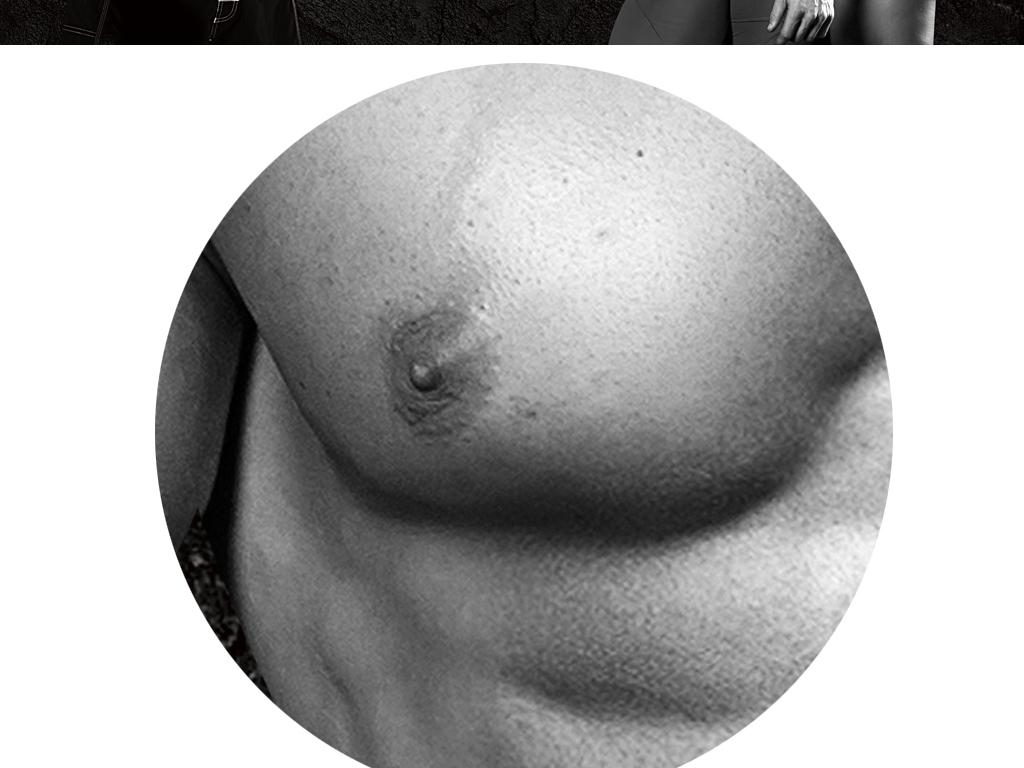 肌肉创意个性感美女时尚背景健身房美式猛男v肌肉病毒性_怎么办反复发烧图片