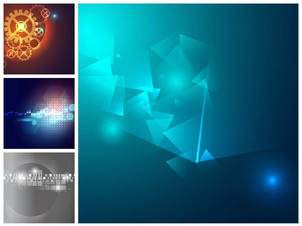 60款科技海报创意背景v科技背景名片蓝色扇灰素材设计图片图片