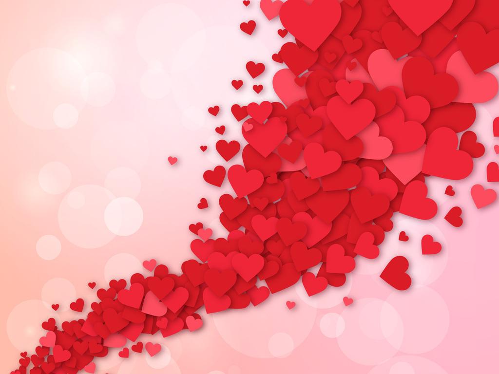 温馨-背景图红色图片