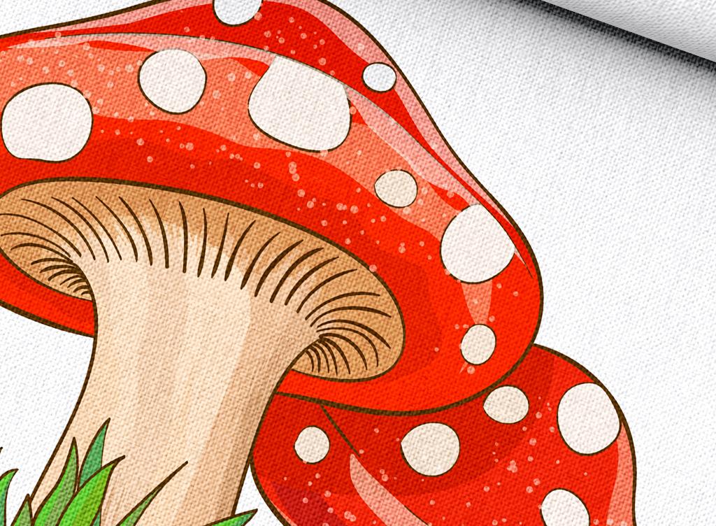 蘑菇简笔画 颜色