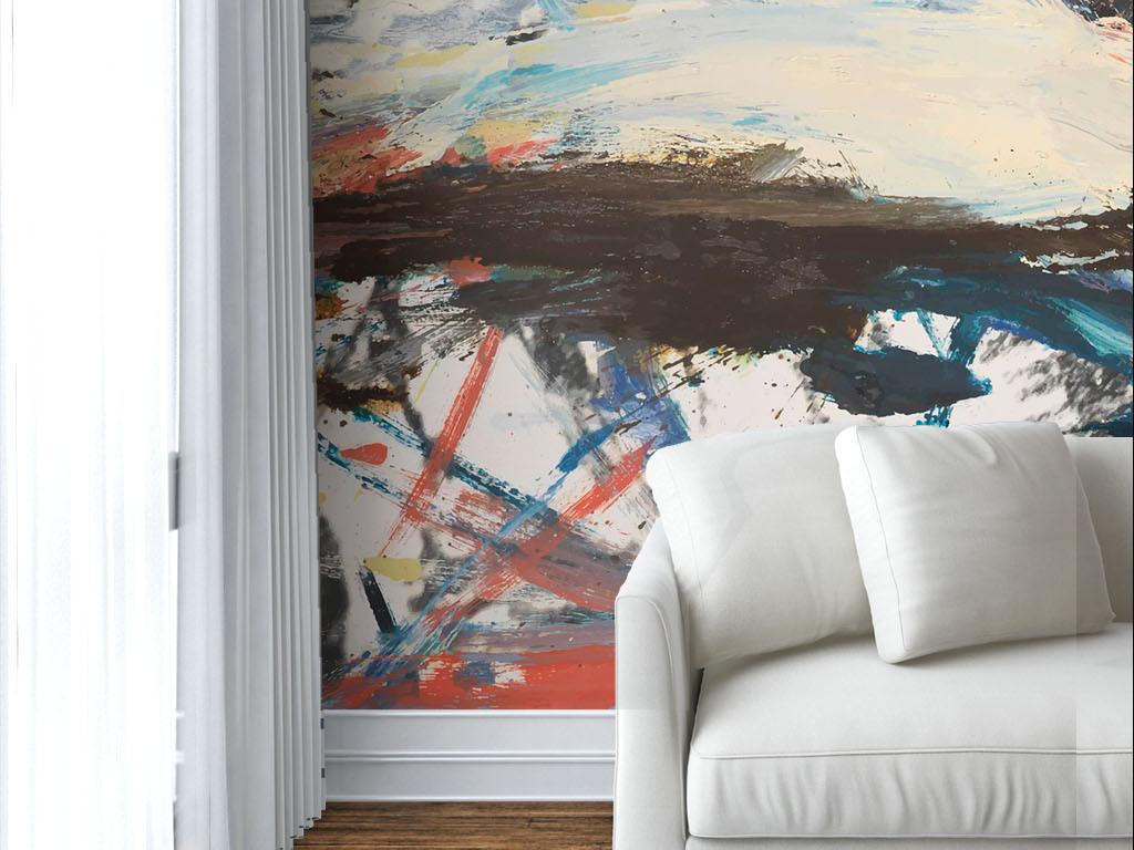 现代简约个性涂鸦墙绘图片
