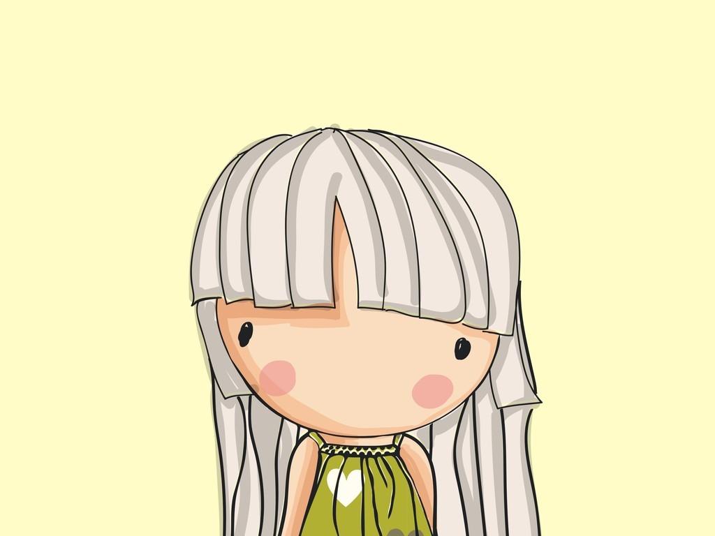 卡通图案矢量图卡通人物矢量图手绘小女孩
